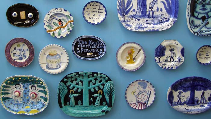 Wall of plates by Stephen Bird