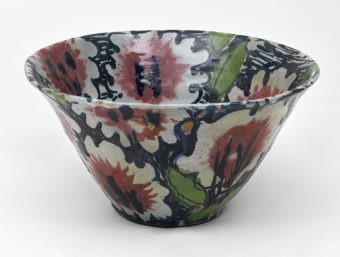 Large Flower Bowl, 1982, Janice Tchalenko and John Hinchcliffe Crafts Council Collection Photo Nick Moss